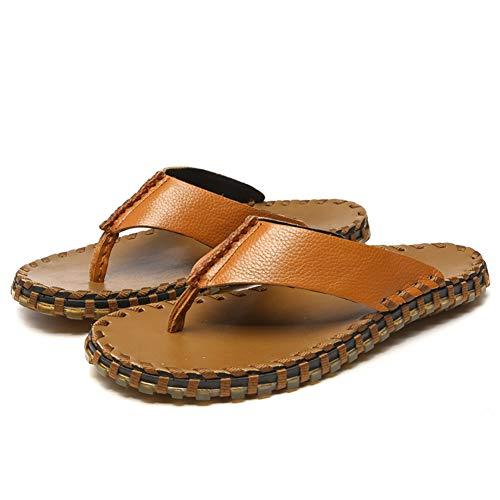 DierCosy Gli Uomini di Cuoio di Vibrazione Scarpe a Punta della Clip Flops Leggero Thong Pantofole...
