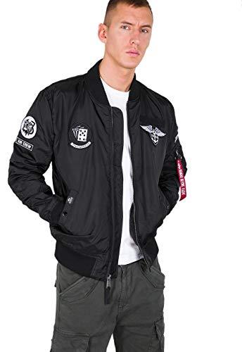 Alpha Industries Men Bomber Jacket MA-1 TT Patch SF, Größe:L, Farbe:Black