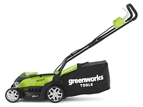 Greenworks 40V Cordless Lawn Mower 35cm side view
