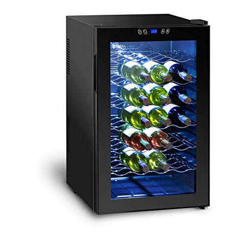 Royal Catering Cantinetta Frigo per Vino Cantina Vini RCWI-70L (Doppi vetri, 70 litri, 28 bottiglie,...