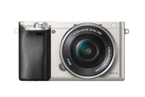 """Sony A6000 - Cámara EVIL de 24 Mp (pantalla LCD 3"""", estabilizador óptico, vídeo Full HD, WiFi), plateado - Kit cuerpo con objetivo 16 - 50 mm"""