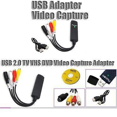 AlexVyan USB 2. 0 Easycap DC60-008 Tv Dvd VHS Video Adapter Audio AV Capture Support 18