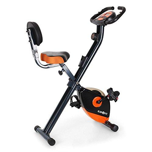 Klarfit X-BIKE-700 • bicicleta fija • bicicleta estática • bicicleta de cardio • computadora de entrenamiento • medidor de pulso integrado • máx. 100 kg de peso corporal • negro-naranja