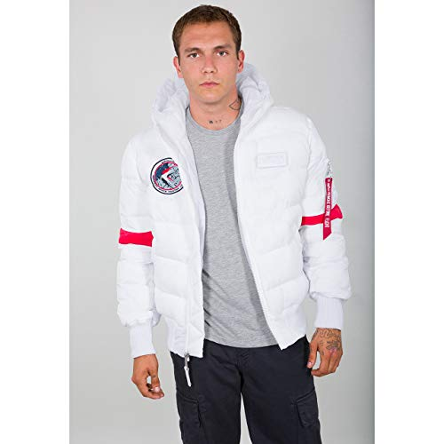 Alpha Industries Hooded Puffer FD NASA Giacca Invernale White