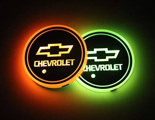 Interesting car Lot de 2 Lampes LED pour Porte-gobelet de Voiture 7 Couleurs changeantes USB Tapis de Charge Luminescent Tampon LED pour int... 25