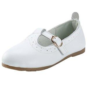 Alexis Leroy Girls Leather Dress Ballet Mary Jane Bow Flat Shoes 41KxYJU0nEL