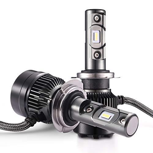 AUTLEAD Lampadine H7 LED - Anabbaglianti, Abbaglianti, Fendinebbia, Fari LED auto di 7200LM, 6500K...