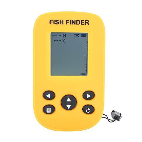 Ecoscandaglio da Pesca Frequenza Sonar di 125KHz del Sensore Subacqueo del Sensore di Pesca Tenuto in Mano del Sensore di Pesca del Pesce di YDH-01A