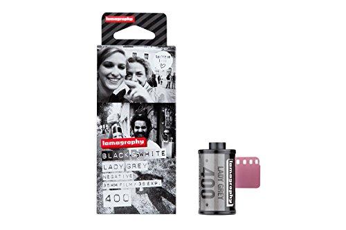 3 pellicole bianco e nero  Lady Grey formato 35mm / 400 ISO