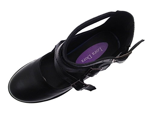 316dc7c23084 Kids Girls Mary Jane Block Heel Platforms School Smart Party ...
