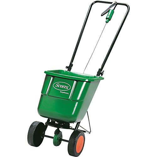 The Scotts EasyGreen Rotary Spreader is designed to spread lawn products effectively and efficiently. It comes pre-assembled and you have to employ some basic DIY skills to get it ready for work. Using this spreader is simple. There is a rate control stated on the back of the bag and all you have to do is input the appropriate setting of the product you want to distribute on your lawn and start walking.