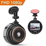 Caméra de Voiture, Thieye Dash Caméra Voiture Embarquée Enregistreur de Conduite Full HD 1080P Écran Mini Dashcam Voiture avec G-Capteur, Grand Angle 170°,WDR, Détection de Mouvement