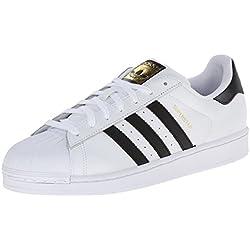 Adidas Originals Superstar, Baskets Basses Homme - Blanc (Ftwr White/Core Black/Ftwr White) - 43 1/3 EU