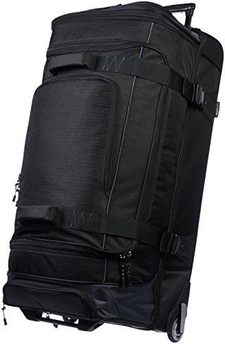 AmazonBasics - Borsone da viaggio con ruote, in Ripstop, 89 cm, Nero