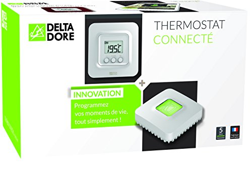 41LHtIbwjLL [Bon Plan Delta Dore!]  Delta Dore 6050625 Tybox 5100 Pack de Thermostat d'ambiance connecté avec box domotique IP Tydom 1,0
