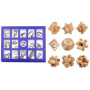 TOBY 24Pack Puzzle Metal Puzzle 3D Brainteaser Juegos de Lógica de Madera Calendario de Adviento Juguete Intelectual…