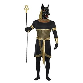 NET TOYS Traje de Halloween de Anubis Vestuario Dios Egipcio Egipto Horror