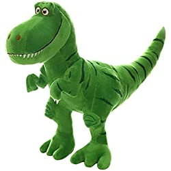 Simulación dinosaurio juguete decoración, modelo animal de juguete, figura de dinosaurio lindo de felpa suave tiranosaurio - verde