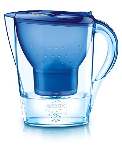 Brita Marella 2.4L water filter jug with cartridges bundle (blue) (1 month of Brita Maxtra) (1 cartridge)