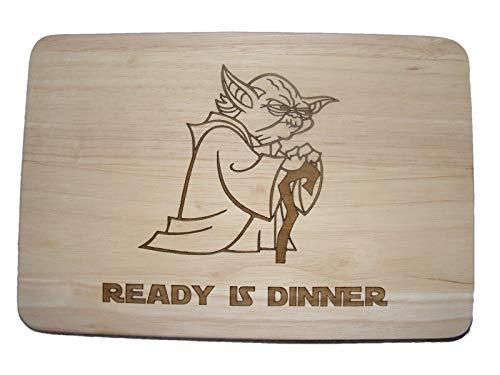 Tagliere in legno, con Yoda di Star Wars tagliere per formaggi tovaglietta ...