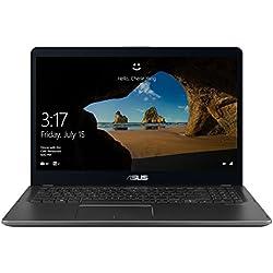 ASUSTEK 90NB0G41-M00360 Ordinateur Portable Hybride 15,6 Gris (Intel, 8 Go de RAM, Go, Windows 10 Pro) Clavier AZERTY français