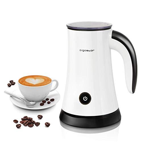Aigostar 30KDF - Montalatte Elettrico ed automatico, schiumatore per latte caldo e freddo, caffè e...