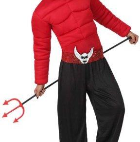 Atosa-14848 Disfraz Demonio para Hombre Adulto, color rojo, M-L (14848)