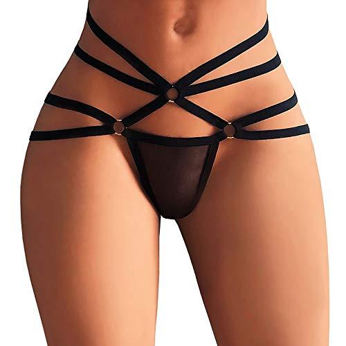 Suitray Damen Sexy Unterwäsche Frauen Erotisch Zurück öffnen Krawatte Slip Briefs String Unterhose Nachtwäsche Nachthemd Sleepwear Nachthemden