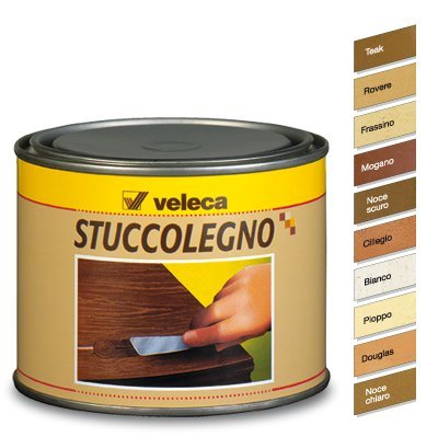 Veleca Stuccolegno, Stucco in Pasta per Legno, Teak, 250gr