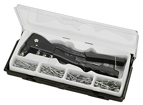 kwb Blindnietzange Set, Niet-Zange inkl. 100 Aluminium-Nieten, schwere Ausführung mit Griffschutz
