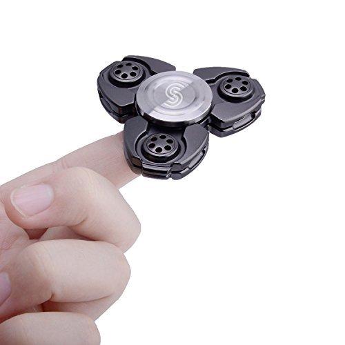 Fidget Spinner, Igearpro Zink-Legierung Metall Hand Tri-Spinner Spielzeug Anti Stress, für Konzentration, Gegen Nervosität, Langes Leises Drehen, 90 g