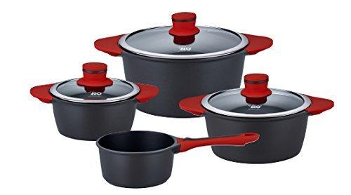 ELO 63005 Lava 4 teilig Topfset, Aluguss, schwarz, 0 cm, 4-Einheiten