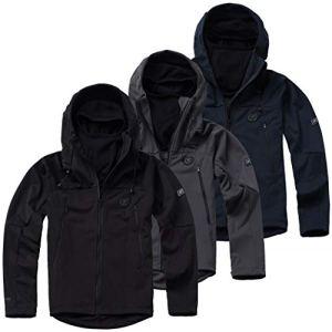 PG-Wear-Herren-Full-Face-Softshelljacke-Shadow-mit-Sturmhaube-in-schwarz-Navy-grau-S-XXXL
