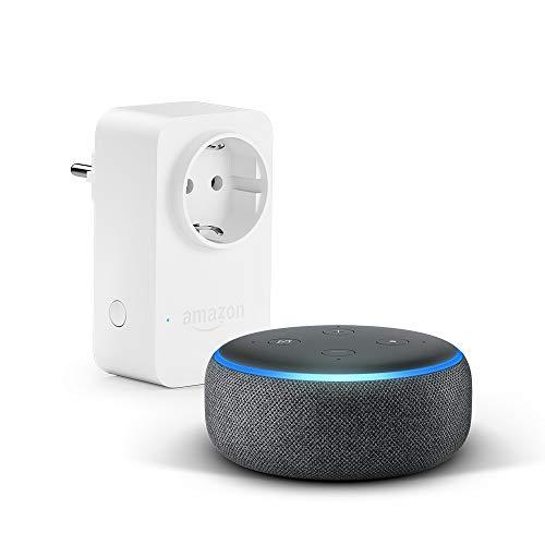 Nouvel Echo Dot (3ème génération), Tissu anthracite + Amazon Smart Plug (Prise connectée WiFi), Fonctionne avec Alexa 22