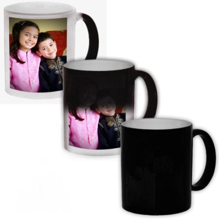 EFW Magic Mug Black Ceramic Colour Changing Coffee Mug