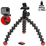 JOBY JB01300-BWW GorillaPod Action Stativ (flexibles Stativ für Action-Videokameras, GoPro, Integrierter Kugelkopf, Traglast bis zu 500g)