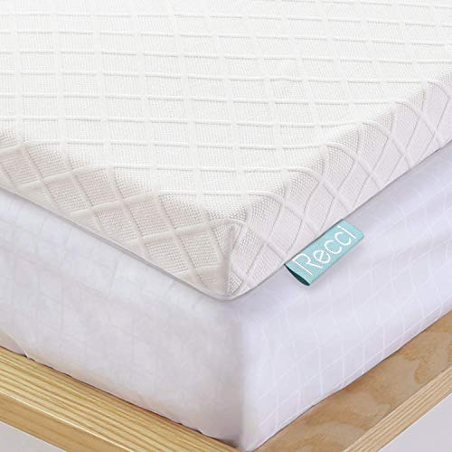 Recci Topper Memory Foam 6cm, Topper Matrimoniale per Alleviare Pressione, Topper Materasso con...