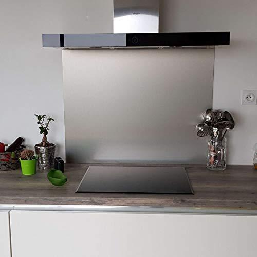 Credenza composita in alluminio spazzolato, altezza 70 cm x larghezza 70 cm