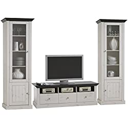 Steens Furniture 7317001213001F Wohnkombination Monaco Kiefer massiv