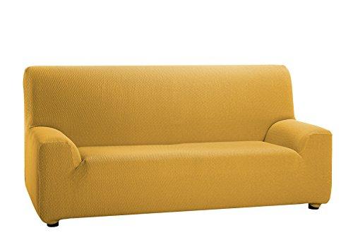 Martina Home Tunez Copridivano elastico, Tela (50% poliestere, 45% cotone, 5% elastan), Oro, 3 posti da 180 a 240 cm di larghezza