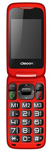 Eg520Senior débloqué GSM téléphone Portable, Bouton SOS, Compatible avec Une Aide auditive Rouge 28