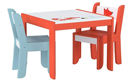 Labebe Mobili Soggiorno Bambini Tavolo & Sedie Set con Lavagna per pittura/Lettura/Gioco di Gruppo...