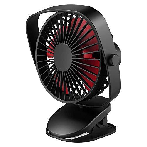VersionTech. Mini Ventilatore da Tavolo con Clip Girevole Morsetto 360 ° USB Portatile Silenzioso...