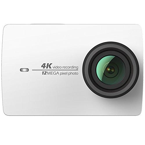YI 4K Cámara de Acción/deportiva/cámara de video 4k Wifi Ultra HD de lente de Amplio ángulo con una pantalla táctil de 2.19pies (Blanco)