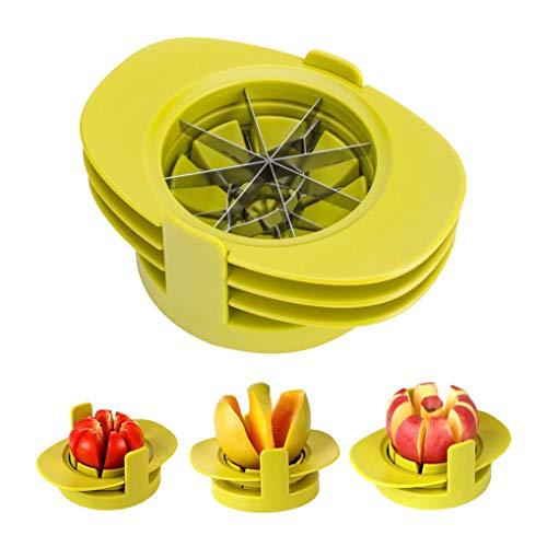 GuDoQi 4 In 1 Apfelschneider Obstschneider Set Mit Fruchthalter Apfelteiler Tomatenschneider Mangoschneider Und Edelstahlklinge Corer Cutter Für Apfel Birne Guave Mango