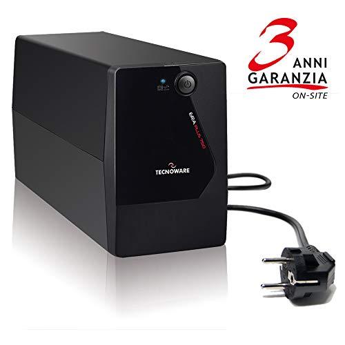 TECNOWARE UPS ERA PLUS 750. Potenza 750 VA, Autonomia fino a 10 min. con 1 PC o 40 minuti con Modem...