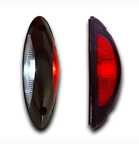 Luci di ingombro laterali verticali rosse e bianche, LED Multivolt, per camion, furgoni, pickup, autobus, rimorchio, 2 pezzi