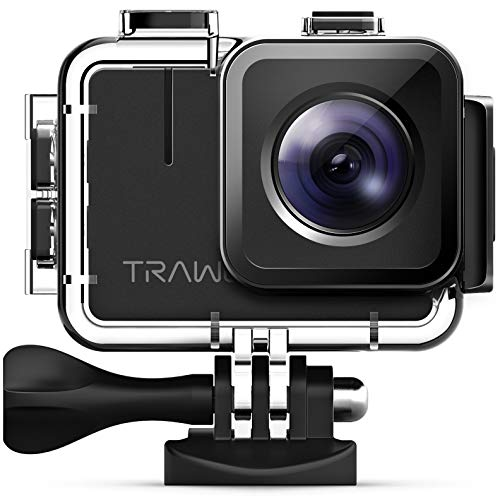 APEMAN Trawo Action Cam 4K WiFi Kamera Ultra HD 20MP Unterwasser Wasserdicht 40M Camcorder mit 170° Ultra-Weitwinkel EIS Stabilisierung Dual 1350mAh Batterien