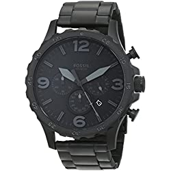 Fossil Nate Chronograph Analog Black Dial Men's Watch - JR1401