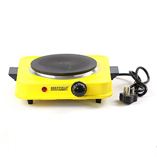 Sheffield Classic Electric Cooking Stove 1500 Watts- Yellow